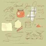 Inceppamento dell'albicocca. ricetta Fotografie Stock