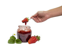 Inceppamento di fragole Fotografia Stock