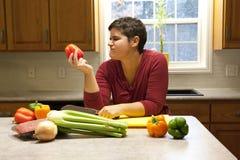Incertain au sujet des légumes photographie stock libre de droits