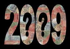 Incertidumbre económica 2009 Imagen de archivo
