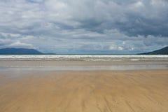 Inch beach. In summer in Ireland stock photography