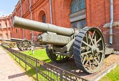 8-inch British siege howitzer Marks VI (1917). Russia, Saint Petersburg - July 14, 2014:  BL 8-inch British siege howitzer Marks VI in Artillery Museum of Saint Stock Photos