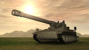 8 inch Howitzer of the Cold War Royalty Free Stock Photo