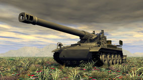 8 inch Howitzer of the Cold War Stock Images