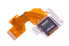1-2.7 inch image sensor from compact camera. 1-2.7 inch photo chip from old compact camera Royalty Free Stock Image