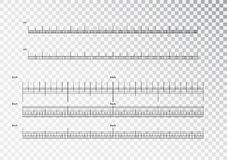 Inch and metric rulers. Centimeters and inches measuring scale cm metrics indicator. Precision measurement centimeter. Icon tools of measure size indication stock illustration