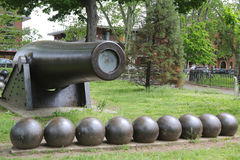 0 inch Parrott Cannon of 1864 as a Civil War Memorial in Bay Ridge area of Brooklyn Stock Image