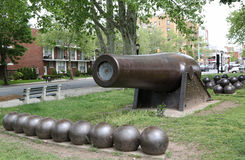 0 inch Parrott Cannon of 1864 as a Civil War Memorial in Bay Ridge area of Brooklyn Stock Images