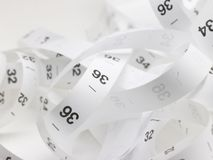 Inch tape with numbers Stock Image