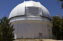 60-inch white telescope dome observatory Royalty Free Stock Photo
