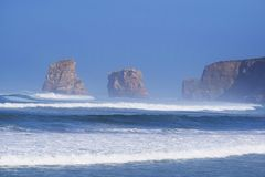 Inchamento na praia França do hendaya fotografia de stock royalty free