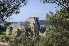 Inchcolm ö Abbey Scotland Royaltyfria Bilder
