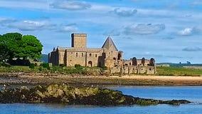 Inchcolm abbotskloster arkivfoto