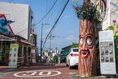 Incheon bajki wioska Zdjęcia Royalty Free