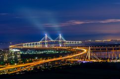 Incheon bridge,South Korea royalty free stock photo