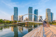 Incheon,Central Park in Songdo International Business District ,. South Korea Stock Photo
