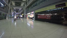 The Incheon International Airport is the largest airport in South Korea stock video