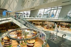 Incheon International Airport. INCHEON, SOUTH KOREA - CIRCA MAY, 2017: inside Incheon International Airport Stock Images