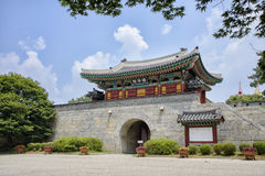 INCHEON KOREA, LIPIEC, - 27, 2014: Gwangseongbo forteca Obraz Royalty Free