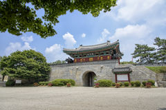 INCHEON KOREA, LIPIEC, - 27, 2014: Gwangseongbo forteca Zdjęcia Royalty Free