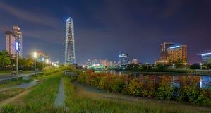 Incheon på natten Royaltyfri Bild