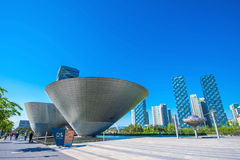 INCHEON, SOUTH KOREA - MAY 20 : Songdo Central Park. INCHEON, SOUTH KOREA - MAY 20 : Songdo Central Park is the green space plan,inspired by NYC. Photo taken Royalty Free Stock Photography