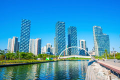 INCHEON, SOUTH KOREA - MAY 20 : Songdo Central Park. INCHEON, SOUTH KOREA - MAY 20 : Songdo Central Park is the green space plan,inspired by NYC. Photo taken Stock Images