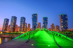 INCHEON, SOUTH KOREA - MAY 20 : Songdo Central Park. INCHEON, SOUTH KOREA - MAY 20 : Songdo Central Park is the green space plan,inspired by NYC. Photo taken Royalty Free Stock Photo