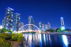 INCHEON, SOUTH KOREA - MAY 20 : Songdo Central Park. INCHEON, SOUTH KOREA - MAY 20 : Songdo Central Park is the green space plan,inspired by NYC. Photo taken Stock Photo