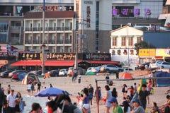 Incheon strandsemesterort Arkivbilder