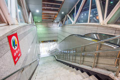 INCHEON SYDKOREA - SEPTEMBER 19: Ingång till tunnelbanastationen Fotografering för Bildbyråer