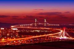 Incheonbrug in Korea Stock Foto's