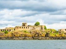 Inchgarvie海岛在峡湾  爱丁堡,苏格兰 库存图片
