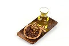 Inchi de Sacha, inchi de Sacha, Sacha mani, huile d'arachide d'Inca des graines et Sacha photographie stock