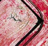 Inchiodi la pittura spogliata sporca nella porta di legno marrone e nel yello arrugginito Fotografie Stock