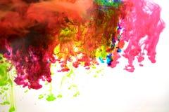 Inchiostri in acqua, astrazione di colore, esplosione di colore Immagini Stock Libere da Diritti