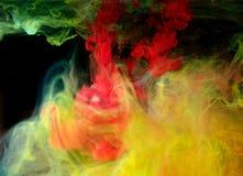 Inchiostri in acqua, astrazione di colore, esplosione di colore Immagine Stock