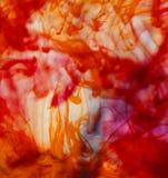 Inchiostri di fondo astratti di colore in acqua Fotografia Stock