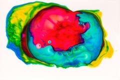 Inchiostro astratto nel fondo liquido di caos Fotografie Stock