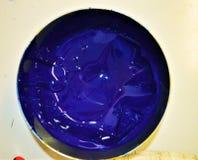 Inchiostro blu Fotografia Stock