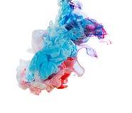 Inchiostro colorato isolato su fondo bianco Fotografia Stock Libera da Diritti