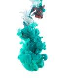 Inchiostro colorato su fondo bianco Immagine Stock Libera da Diritti