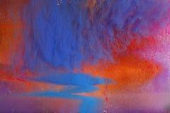 Inchiostro Colourful in acqua Immagine Stock