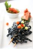 Inchiostro del calamaro degli spaghetti Fotografie Stock Libere da Diritti