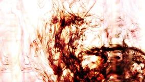 Inchiostro di Brown in acqua archivi video