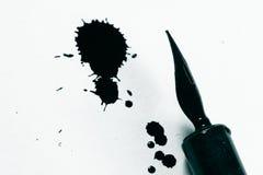 Inchiostro e penna del produttore Fotografia Stock Libera da Diritti