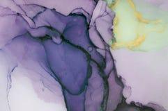 Inchiostro, pittura, astratta Fondo astratto variopinto della pittura pittura ad olio Alto-strutturata Deta di alta qualità Illustrazione Vettoriale