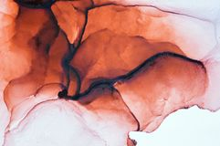 Inchiostro, pittura, astratta Primo piano della pittura Fondo astratto variopinto della pittura pittura ad olio Alto-strutturata  illustrazione di stock