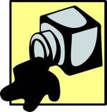 Inchiostro rovesciato Fotografia Stock
