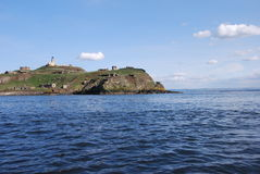 Inchkeith from Boat Royalty Free Stock Photo